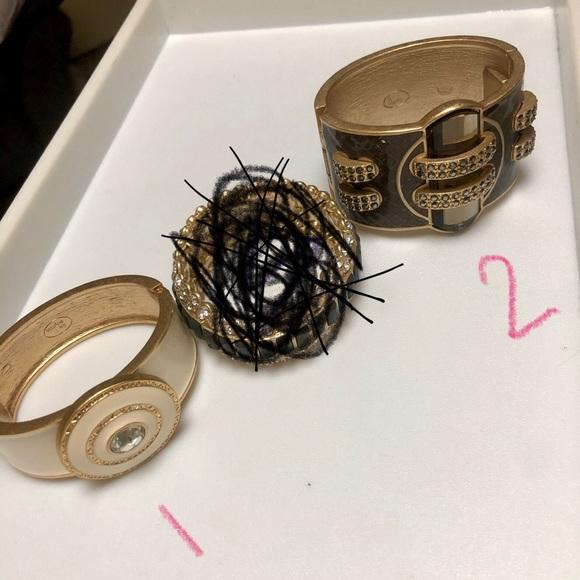 Lot of 2 Lia Sophia gold bracelets-like new